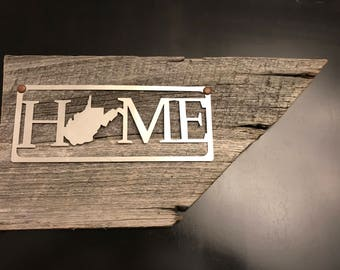 Metal Home Sign-YOU CHOOSE STATE