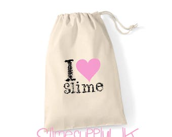 I love slime gift bag | Slime bag | Children's slime gifts