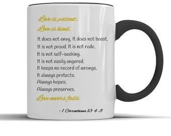 Bible verse gift, christian mug, catholic mug, bible quotes, church gift, bible inspiration, christian, faith, pastor gift, coffee mug,