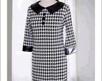 60s dog tooth scooter dress