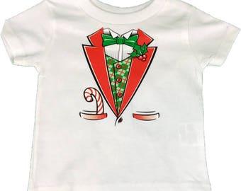 Kids elf tuxedo shirt
