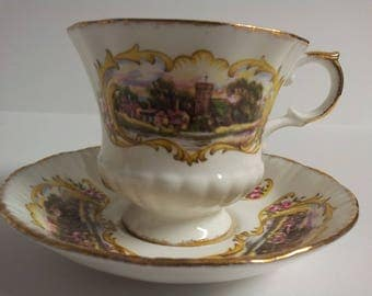 Vintage Paragon Chippendale A Fine Bone China Tea Cup and Saucer