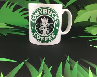 Ponybucks Coffee - My little pony inspired mug