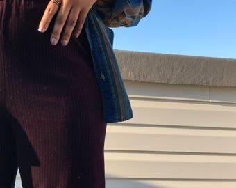 Burgundy Velvet Pants