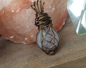 Weaved Wire Wrap Pendant