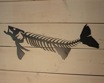 Metal Fish Art Walleye  Man Cave Cabin Office Decor ...