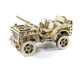 Mechanical 3D puzzle The Willys MB jeep 4x4