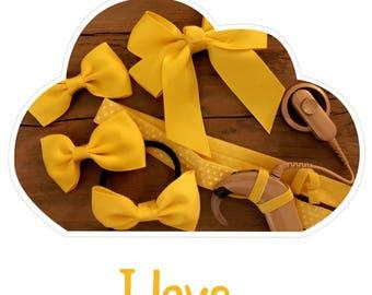Headband I love Yellow