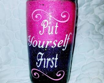 Custom Glitter Tumbler, Tumbler, Custom, Persoan;ized, Personalized Tumbler, Gifts for Her