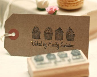 Personalised baking kitchen cupcakes stamp