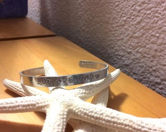 You are Loved - Inspirational Cuff Bracelet