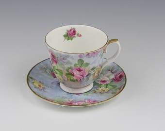 Crown Victoria Teacup and Saucer
