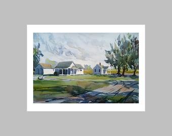 "Photo Print ""Houses On Green Street Road"""