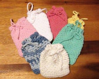 Cotton Crocheted Soap Saver Sack