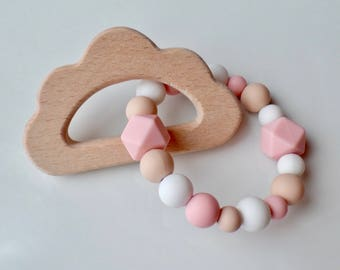 Cloud Silicone Teething Ring, Baby Teething Ring, Teether Toy, Teether