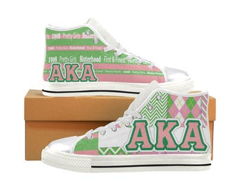 AKA Classic Canvas High Top / Low Top Sneakers (shoe runs large, view size chart)