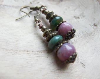 India Agate Earrings