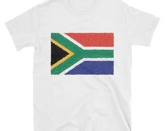 South African Flag - short sleeve unisex t-shirt
