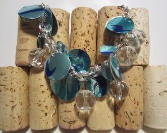 Blue Crystal Ball Bracelet