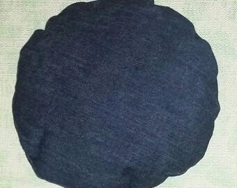 Denim Frisbee Pillow