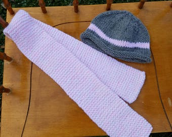 Toddler's hat and scarf