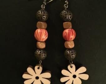 Retro Flower Power Earrings