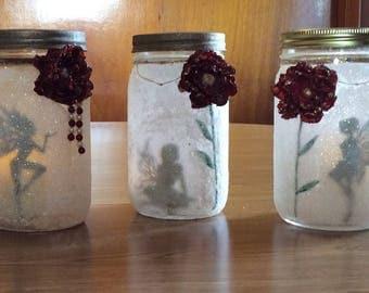 Fairies in a Jar, Faries in a Mason Jar, Christmas Gifts, Fairy luminary, Fairy Nightlight, Wedding Centerpiece