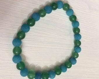 Aventurine and Jade Beaded Bracelet