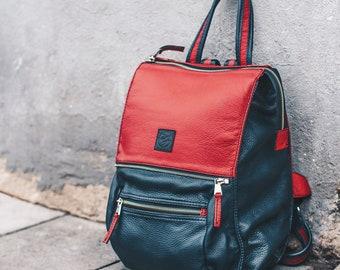 Leather Backpack Women, Laptop Backpack Bag, Messenger Backpack Bag, Laptop Bag, Zipper Backpack, Leather Messenger Bag, Personalized Bag