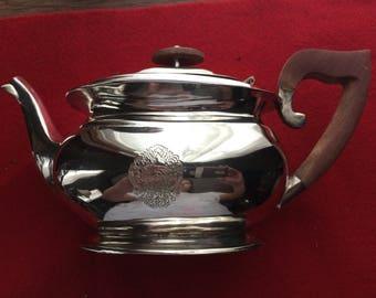 Beautiful Old Wood Handled Teapot - No Maker Marks