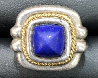 Tiffany & Co. vintage Lapis sterling silver and 18k ring