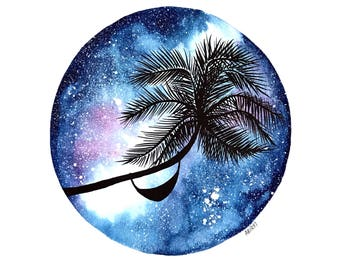 Galaxy Palm Original Artwork