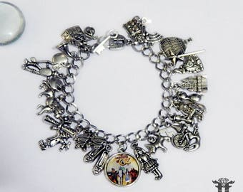 Loaded! The Wizard of Oz Inspired Sillver Plated Photo Charm Bracelet Classic Movie