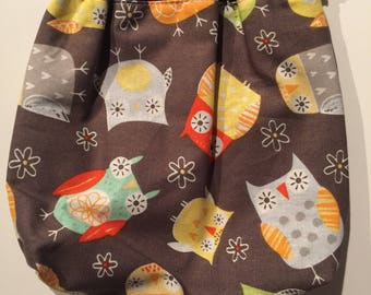 Owl Pattern Snap Pouch