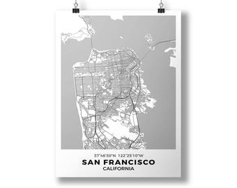 San Francisco, California - City Map Poster