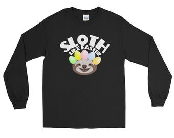 Sloth Like Easter Holiday Long Sleeve T-Shirt