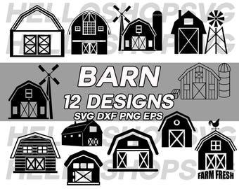 barn svg, farm svg, farming svg, clipart, decal, stencil, vinyl, cut file, iron on, silhouette, cricut file, silhouette file, template