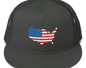 USA Mesh Back Snapback