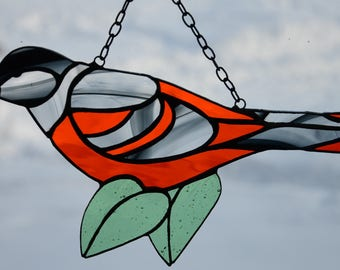Stained Glass Oriole Sun Catcher