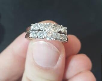 White Gold Diamond Ring Bride Set