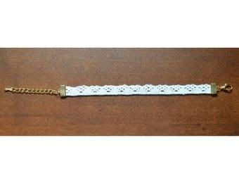 Lace/Gold Simple Classy Beach Bracelet