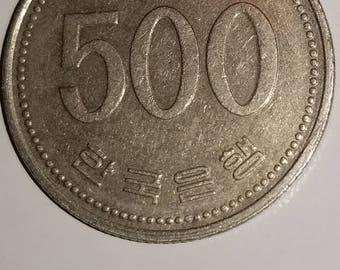 1991 Korean 500 Won