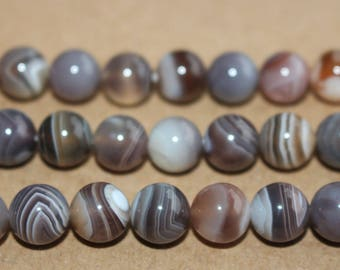 15 Inches Full strand,Botswana Agate Gemstone Smooth round beads 4mm 6mm 8mm 10mm 12mm beads,loose beads,semi-precious stone