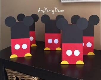 Mickey Mouse Birthday Party Favor Bags - Mickey Mouse Goodie Bags - Mickey Party (10 Count)