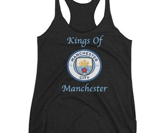 Kings Of Manchester, Manchester City Soccer Women's Racerback Tank