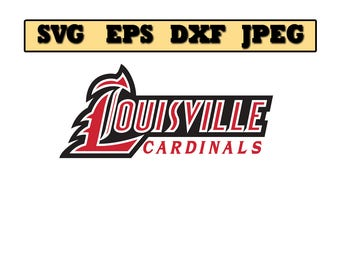 Louisville Cardinals SVG File - Vector Design in, Svg, Eps, Dxf, and Jpeg Format for Cricut and Silhouette, Digital download !!!!!!!!!!!!!!!