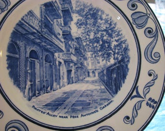 """4 PLATES Scenes of Old New Orleans Crown Ducal 10"""""""