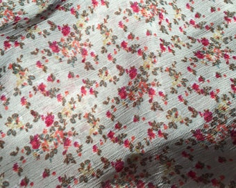Floral polyester chiffon fabric remnant