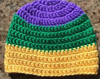 Mardi Gras Beanie - PGG - Colorblock