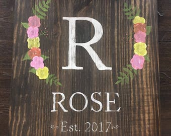 Custom Name Wood Sign